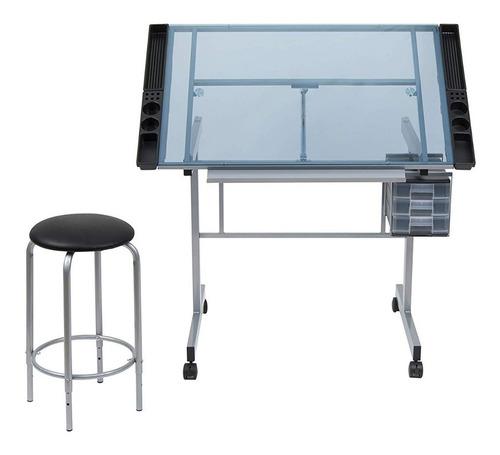 tabla mesa de trabajo para dibujo escritorio restirador vidr