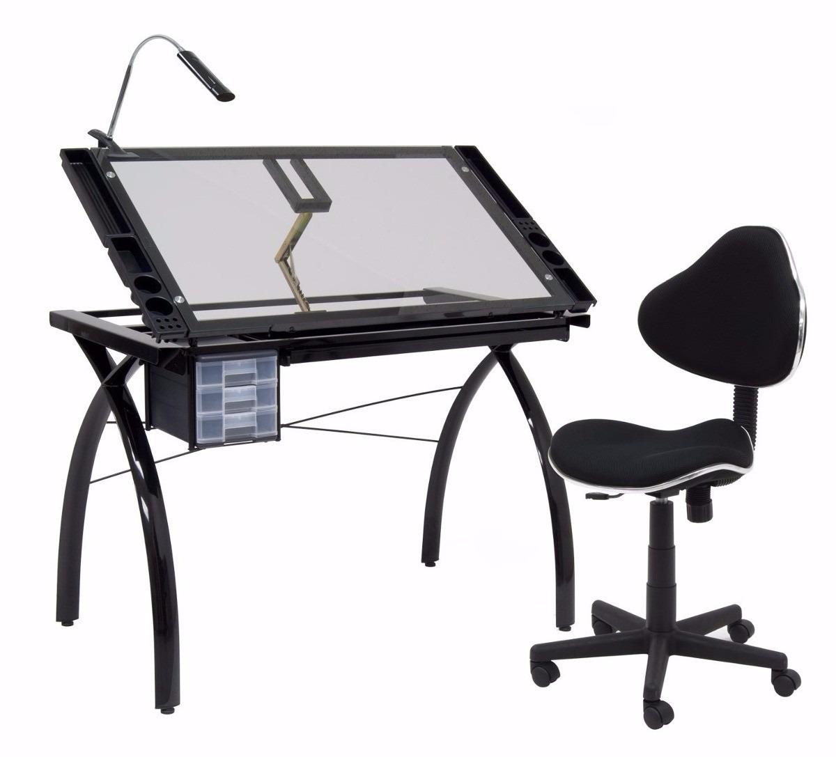 Tabla mesa trabajo restirador dibujo con cajonera 97 x 61 - Mesa dibujo ikea ...