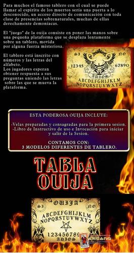 tabla ouija - 3 modelos, velas y libro de uso e invocacion