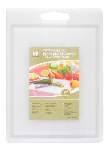 tabla para picar de plástico con canaleta blanca en oferta