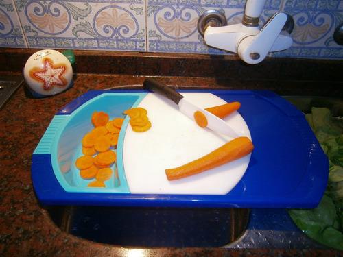 tabla para picar en silicona - ahorre espacio en su cocina