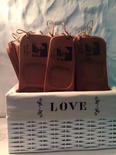 tabla picada souvenir casamiento personalizado - 4 cuencos