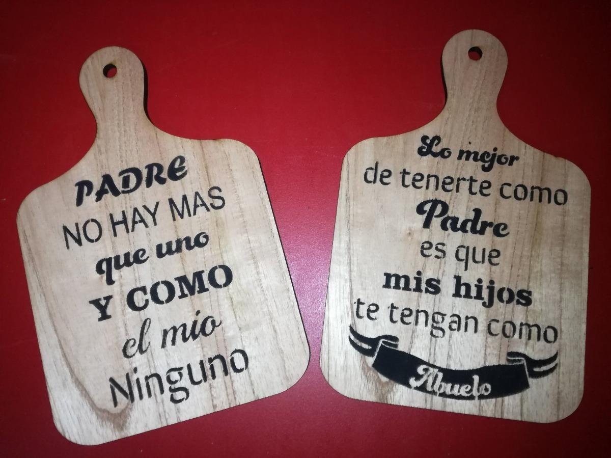 Tabla Picadas Decorativa Paraiso Con Frases Dia Del Padre