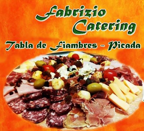 tabla picadas - tabla de queso y fiambres
