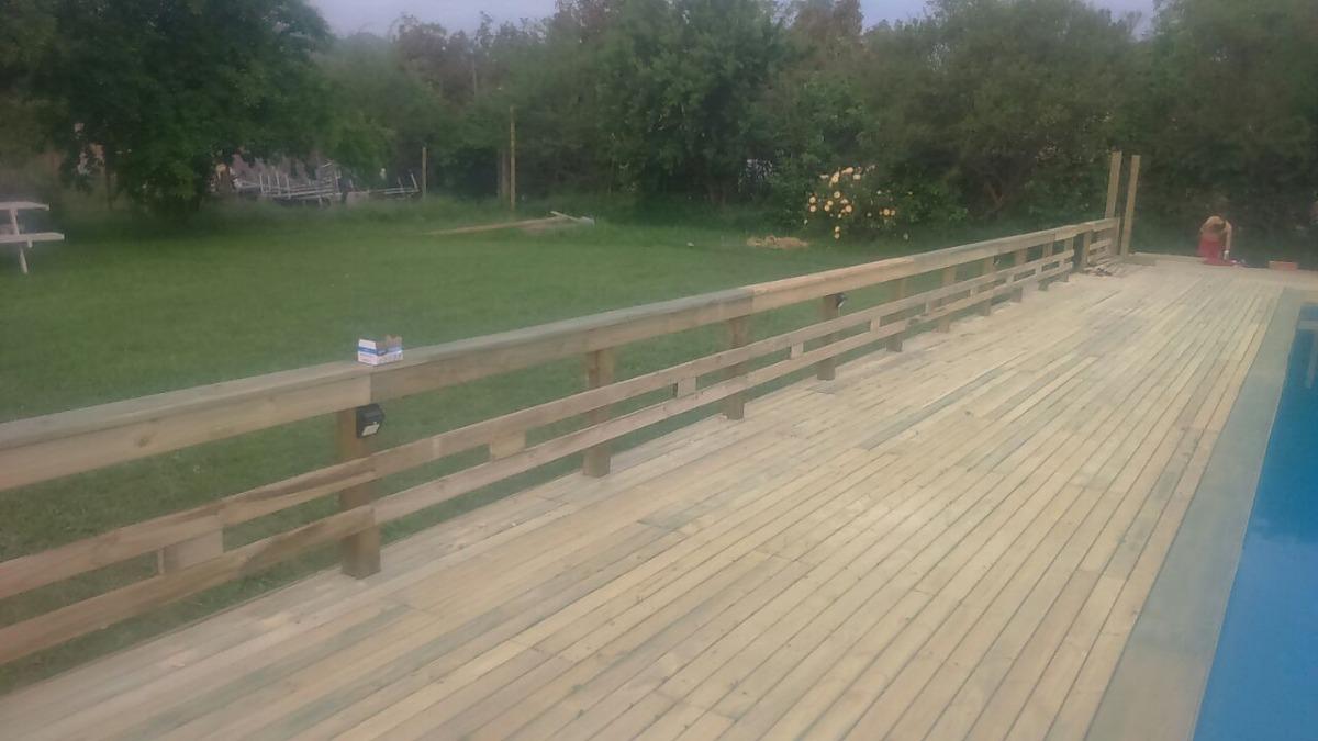 Tabla Piso Terraza Deck Impregnado Terrasas Pergolas Quincho