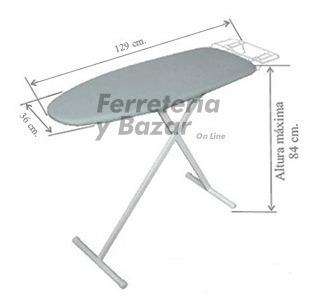 tabla planchar confort grande base malla metalica 2019 **