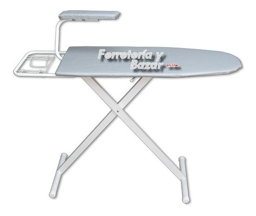 tabla planchar ref tela metalizada +tender 8 v gris hot sale