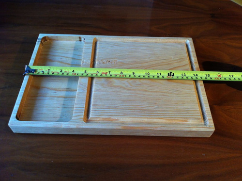 tabla  plato carnes asadas asado madera 25x37cm juego 4 pzas