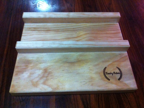 tabla plato madera pino para  hot dog  20 x 25 con logo
