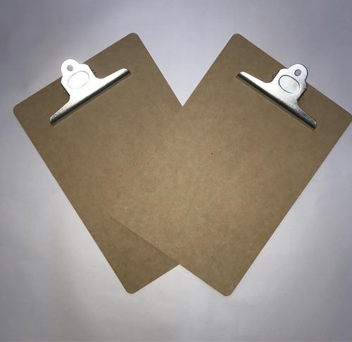 tabla porta block a4 madera con aprieta papel superior