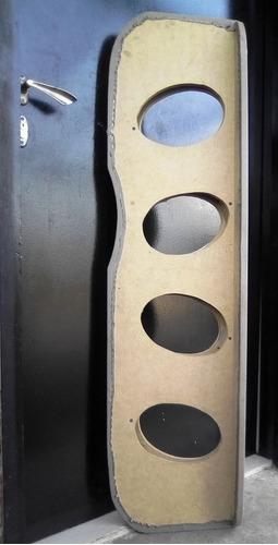 tabla porta cornetas triaxiales forrada en semi cuero beige
