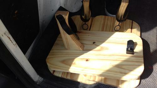 tabla porta pernil ,con herraje sosten.asado accesorio