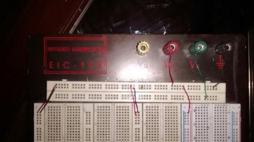 tabla protoboard usada