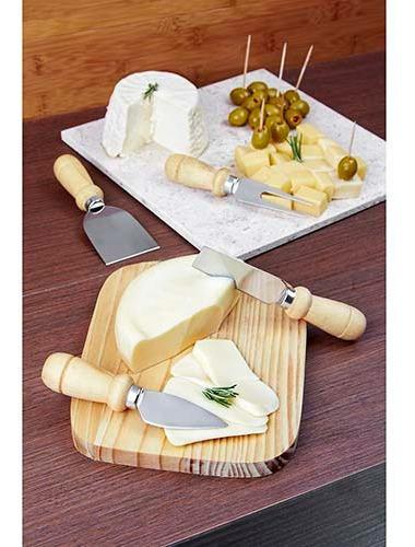 tabla quesos con 4 accesorios y con estuche