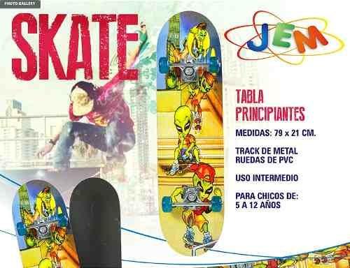 tabla skate principiantes ruedas pvc jem 205b