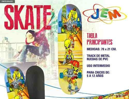 tabla skate principiantes ruedas pvc jem yx0205b