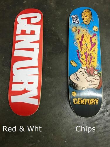 tabla skate profesional century + lija  -15 modelos p elegir