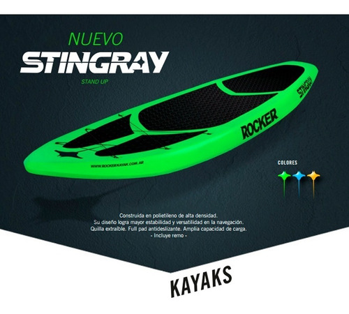 tabla stand up paddle sup stingray rocker kayak envio gratis