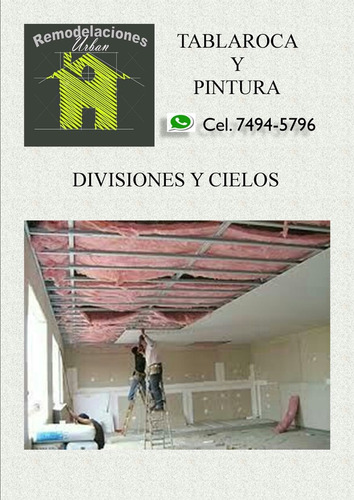 tablaroca y pintura
