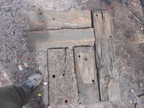 tablas de medio durmiente rustico de 50 cm de largo