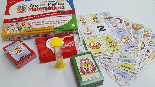 tablas de multiplicar (3 juegos: lotería, memoria y cabezón)
