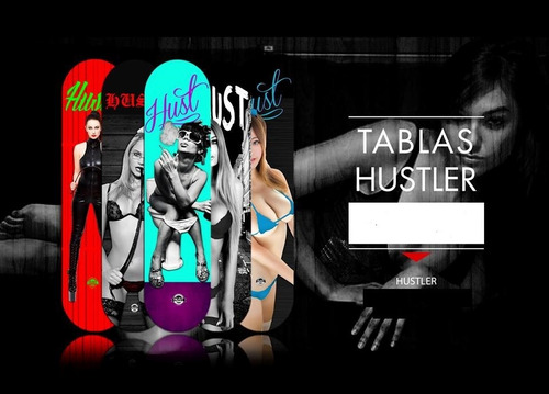 tablas de skate hustler skateboards maple canadiense