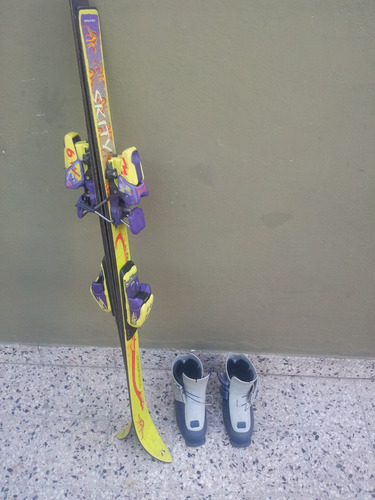 tablas de ski y botas para niño 4-9 años