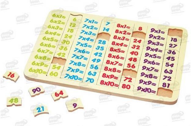 Tablas Multiplicar 6 9 Rompecabezas Madera 41 Pzas 5