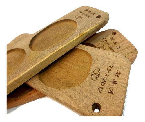 tablas picadas 2 cavidades premium c/ grabado idea  souvenir