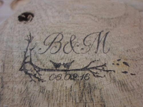 tablas picadas souvenir grabado láser personalizado incluido