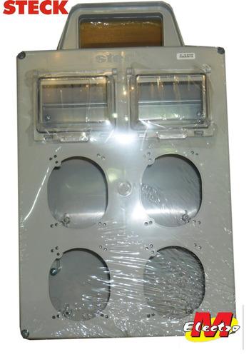 tablero 8 din + 4 bocas tipo scame steck  electro medina