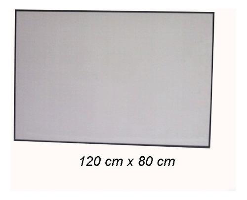 tablero acrílico borrable aluminio 120 x 80cm grande