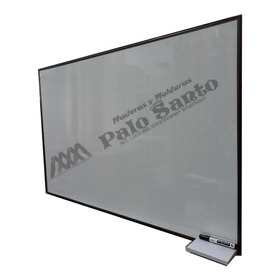 Tablero Acrílico Cuadriculado 120 X 80cm Perfil En Aluminio