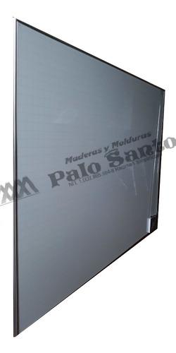 tablero acrilico cuadriculado,80cm x 60cm perfil en aluminio