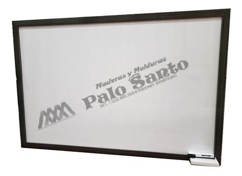 tablero acrilico liso 120x 80 cm marco en madera