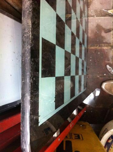 tablero ajedrez en vidrio 81x81cm 20mm grueso