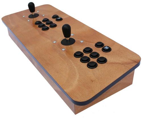 tablero arcade doble madera usb para pc