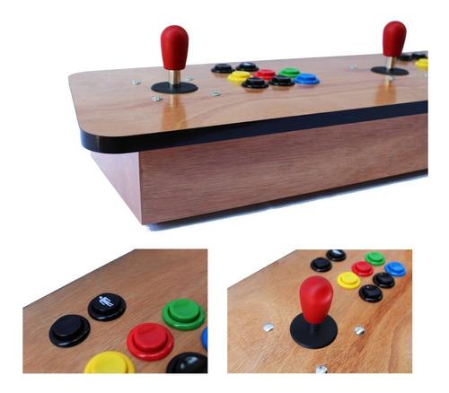 tablero arcade madera raspberry pi 3 wifi 10000 juegos retro