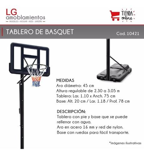 tablero aro basquet