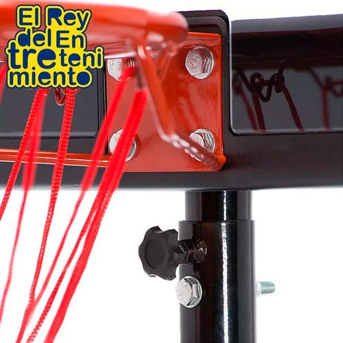 tablero basket + aro metal+ red + bulones + pelota n5 el rey