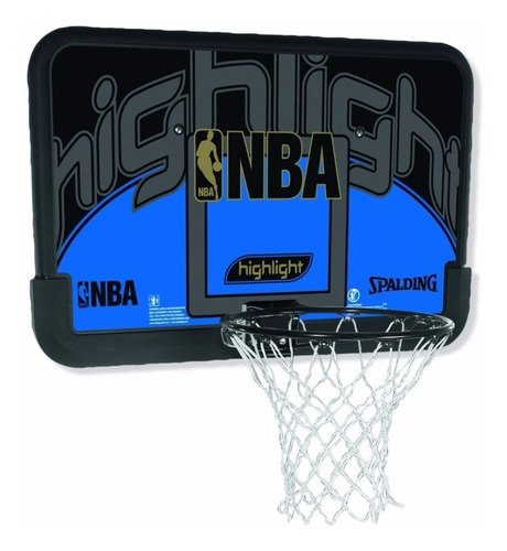 tablero basquet aro red spalding basket nba highlight 44´´