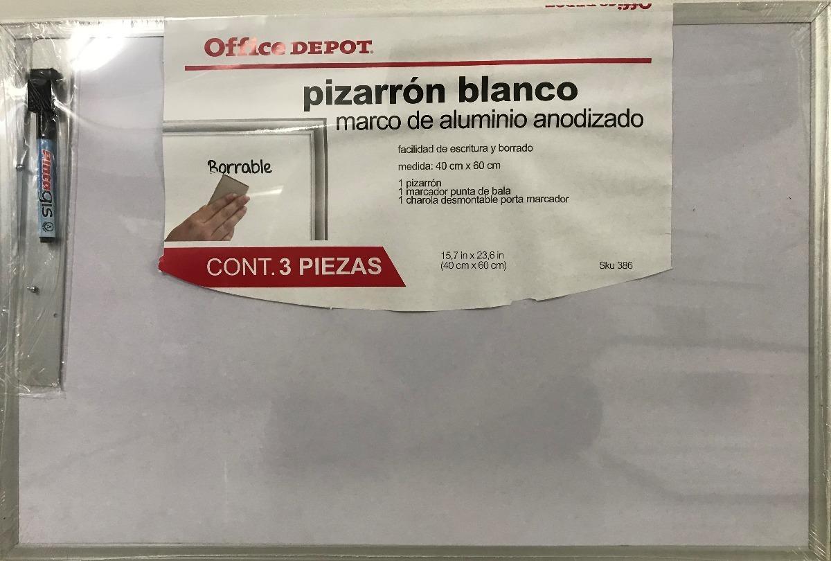 Tablero Blanco 40 X 60 Cms Marco Aluminio Anonizado - $ 44.999 en ...