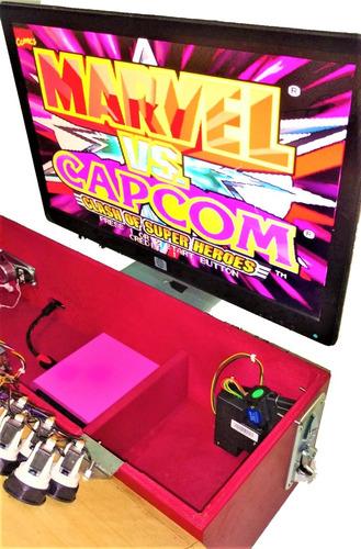 tablero botonera arcade pandora 9 1660 juegos monedero elec