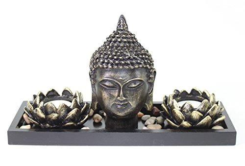 Tablero Buda Cabeza Lotus Tea Light Candle Holder Decoració ...