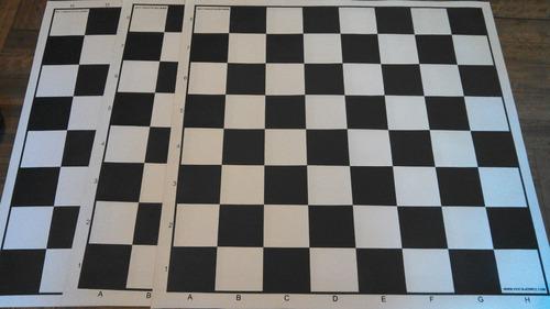tablero de ajedrez de cuerina - 5.5 cm con nomenclatura
