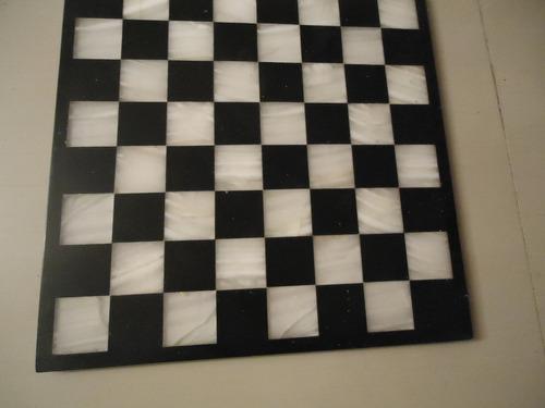 tablero de ajedrez elaborado en marmol mide 35 cm