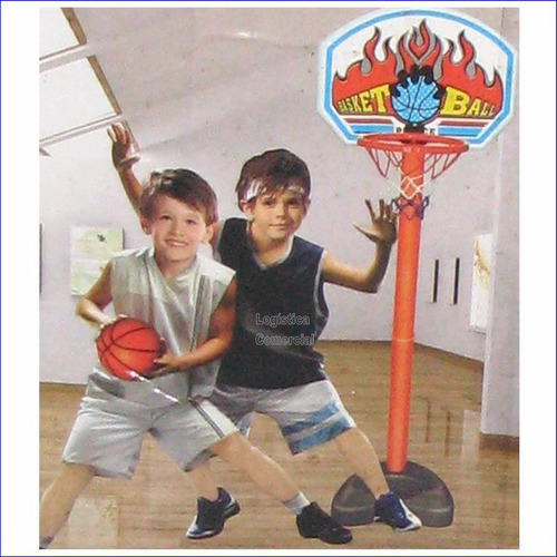 tablero de basket+ base+ malla + pelota niños navidad regalo
