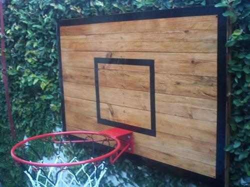 tablero de basquet artesanal sin aro