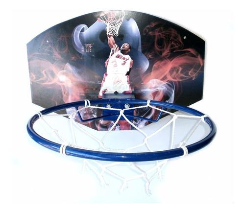 tablero de basquet con aro metalico y red medida oficial