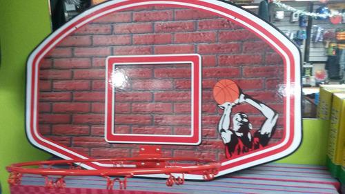 tablero de basquet en madera con anillo
